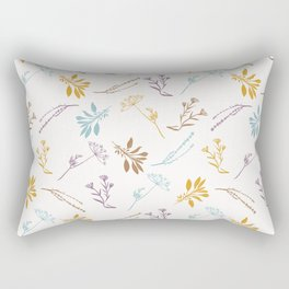 Sacred Dried Herb Bunches Rectangular Pillow