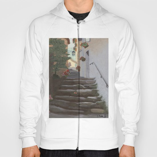 Italian Street and Stairs  Hoody