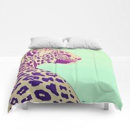 Leopard under the Sun Comforters