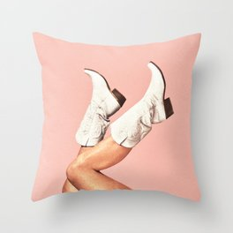 These Boots - Pink Throw Pillow