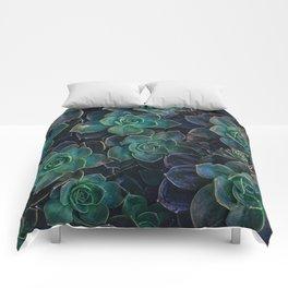 Succulent Plant - Dark Green Comforters