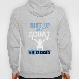 Squat Weightlifting Workout Gym Bodybuilders Bodybuilding Exercise Barbells Gift Hoody