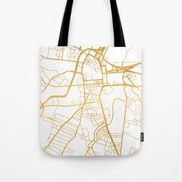 BELFAST UNITED KINGDOM CITY STREET MAP ART Tote Bag