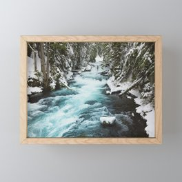 The Wild McKenzie River - Nature Photography Framed Mini Art Print