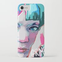 grimes iPhone & iPod Cases featuring Grimes by Tiffany Baxter