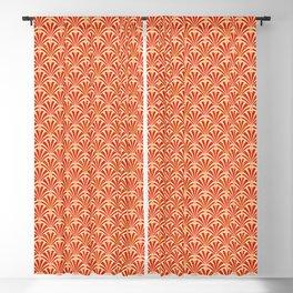 Art Deco Fan Pattern, Mandarin Orange Blackout Curtain