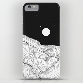 Lines in the mountains II iPhone Case