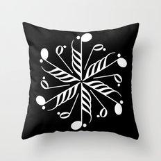Music note mandala - inverted Throw Pillow