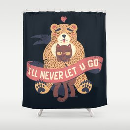 Ill Never Let You Go Bear Love Cat Shower Curtain