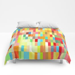 colorful rectangle grid Comforters