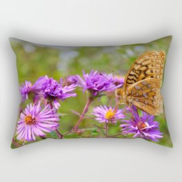 Butterfly and Asters Rectangular Pillow