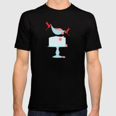 newly minted Black MEDIUM Mens Fitted Tee