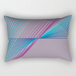 Gradient Triangles Rectangular Pillow