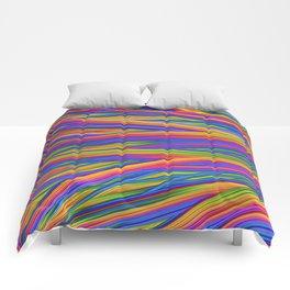 Feathery Rainbow Comforters