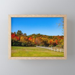Fall in New England. USA. Framed Mini Art Print
