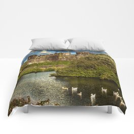 Caerphilly Castle Western Towers Comforters