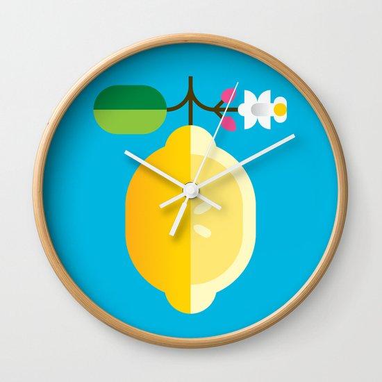 Fruit: Lemon Wall Clock