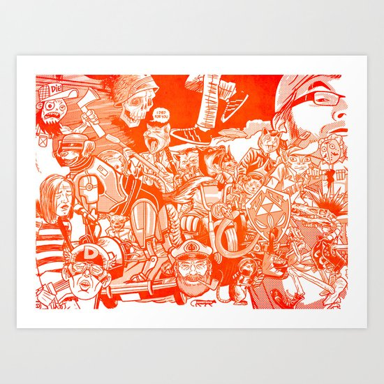 explosion! Art Print