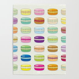 Colorful macaroon set Poster