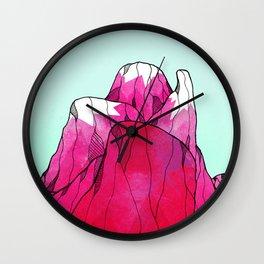 Rose pink peak Wall Clock