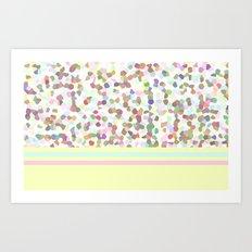 Lots of Dots Yellow Art Print