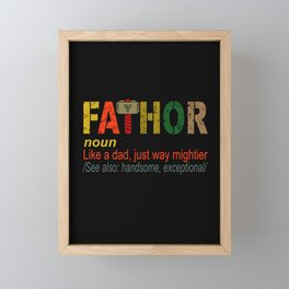 fathor like dad Framed Mini Art Print