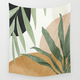 Abstract Art Tropical Leaves 4 Wall Tapestry