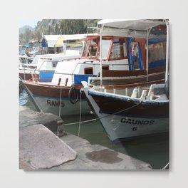 Caunos Riverboats at Dalyan Metal Print