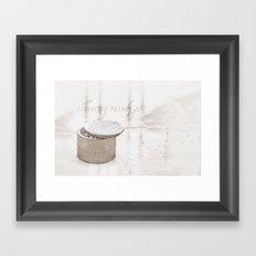 Collecting raindrops Framed Art Print