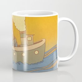 She landed on a passing by boat that took her to a little island Coffee Mug