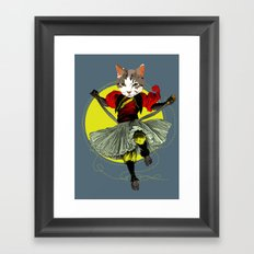 Kitty is a bad-ass Framed Art Print
