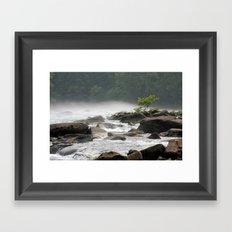 Summer Gauley River Fog Framed Art Print