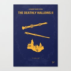 No101-8 My HP - DEATHLY HALLOWS II minimal movie poster Canvas Print