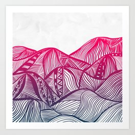 Lines in the mountains 05 Art Print