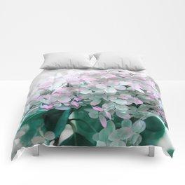 Soft Pastel Hydrangeas Comforters