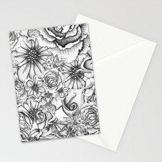 B&W Flowers  Stationery Cards