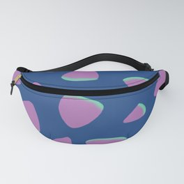 Abstract Graphic Pattern | Blue | Pink | Green Fanny Pack