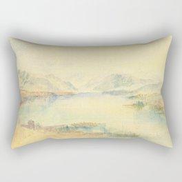 "J. M. W. Turner ""Lake Lucerne, with the Rigi"" Rectangular Pillow"
