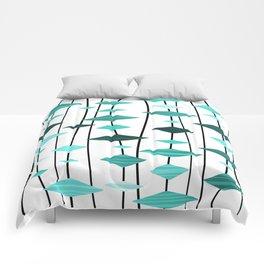 Retro Atomic Age Art Diamonds 2 Comforters