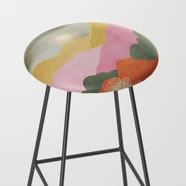 Colorful mountains Bar Stool