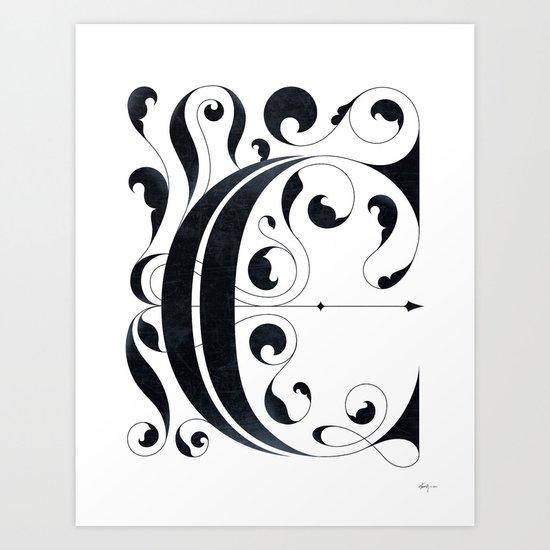 """Drop cap """"C"""" Art Print"""