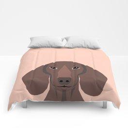 Remy - Daschund hipster dog, doxie, weiner dog, wiener dog,  Comforters