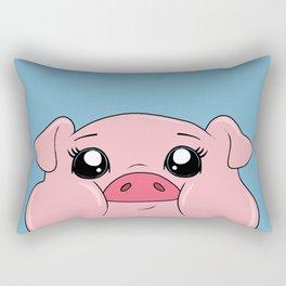 Friends Not Food - Cute Pig Rectangular Pillow