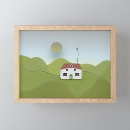 sunrise at the farmhouse. Framed Mini Art Print