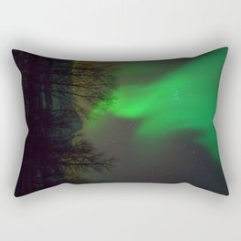 Northern Lights over Norway Rectangular Pillow