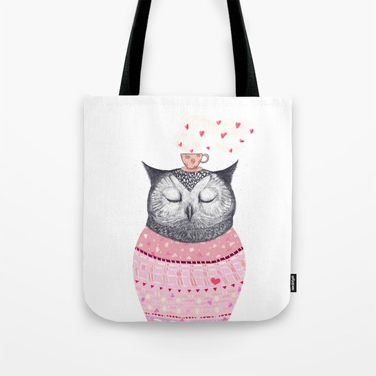 Owl lover of coffee Tote Bag