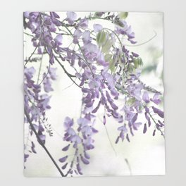 Wisteria Lavender Throw Blanket