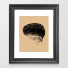 Crown: High-top Fade Framed Art Print