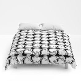Black and White Swirls Comforters