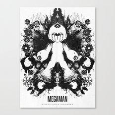 Megaman Geek Ink Blot Test Canvas Print